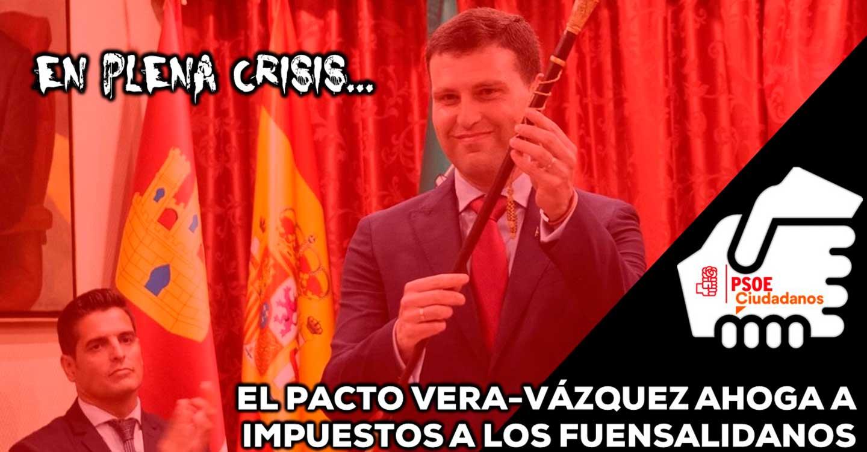 El pacto Vera-Vázquez ahoga a impuestos a Fuensalida en plena crisis