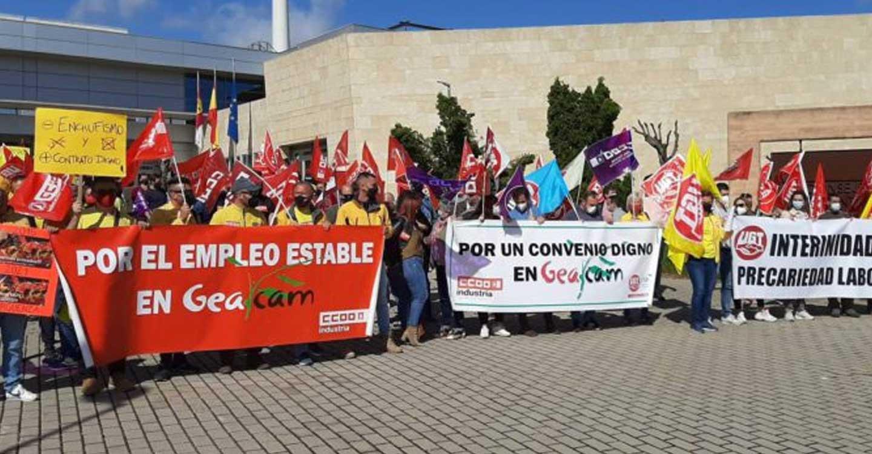 PCE C-LM traslada su apoyo a la huelga convocada por la plantilla de GEACAM
