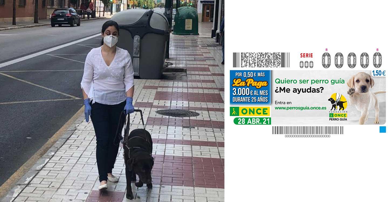 La ONCE entrega 8 perros guía en Castilla-La Mancha a pesar de la pandemia y dedica un cupón al Día Internacional del Perro Guía, en homenaje a quienes dan seguridad y movilidad a las personas ciegas