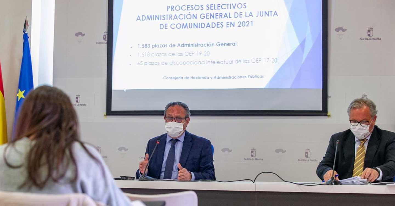 Hoy se abre en Castilla-La Mancha el plazo de presentación de solicitudes a los procesos selectivos para cubrir 1.583 plazas de Administración General de la Junta