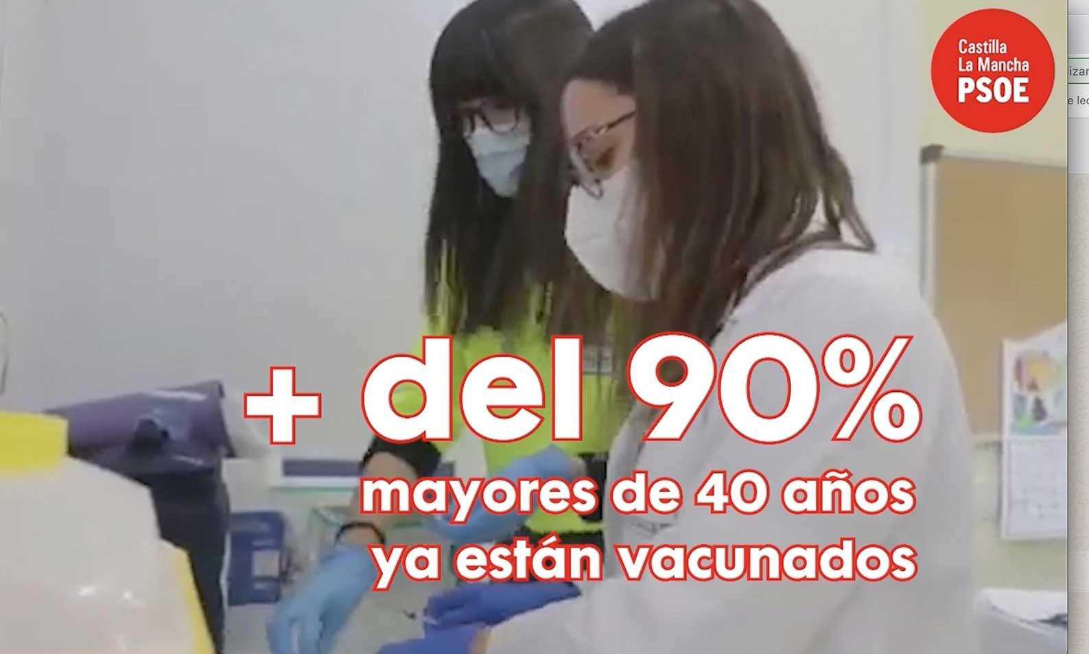 """El PSOE publica un vídeo sobre la vacunación en CLM: """"Frente a los que se apoyaron en el miedo, la esperanza y la verdad caminan de la mano"""""""