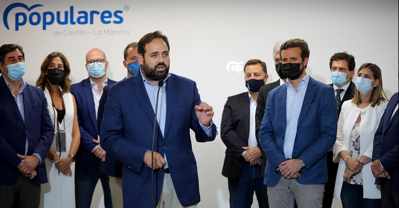 """Núñez abre las puertas de la sede del PP a toda la sociedad: """"Podéis entrar sin llamar, aquí hay pocos despachos y mucho espacio para escucharos"""""""