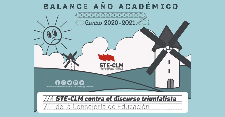 Balance Curso Escolar 2020-2021 : STE-CLM contradice el discruso triunfalista de la Consejería de Educación
