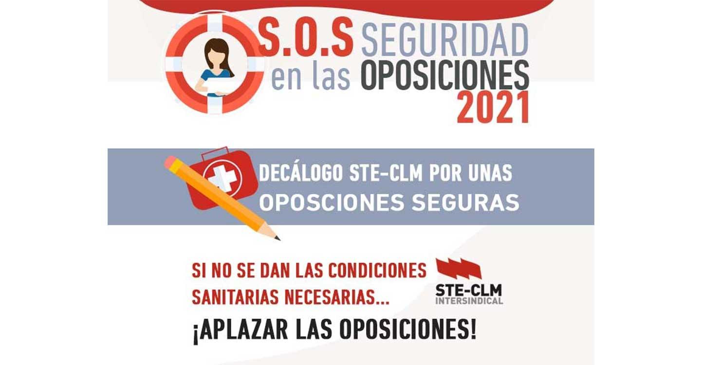 Oposiciones CLM 2021 : STE-CLM solicita a la Consejera de Educación que no sea obligatorio presentarse para permanecer en bolsa