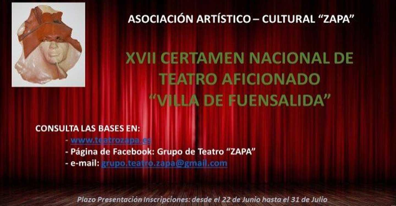 ZAPA abre el plazo de inscripciones para el XVII Certamen Nacional de Teatro Aficionado 'Villa de Fuensalida'