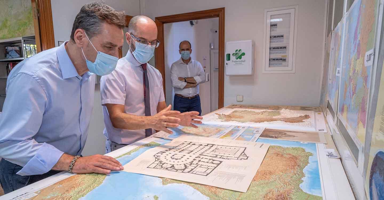 Tierraseca conoce los proyectos del Servicio Regional del Instituto Geográfico Nacional