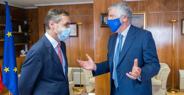 Tierraseca recibe al embajador de Portugal en España