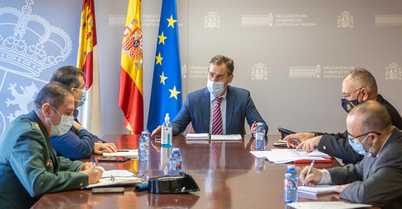 El delegado del Gobierno en Castilla-La Mancha preside la reunión del Centro de Coordinación Regional (CECOR)