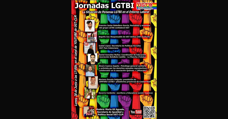 UGT CLM abordará en un encuentro digital la situación de las personas LGTBI en el entorno laboral