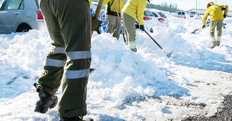 UGT denuncia la falta de equipamiento de los trabajadores de Geacam frente a las bajas temperaturas y el temporal de nieve