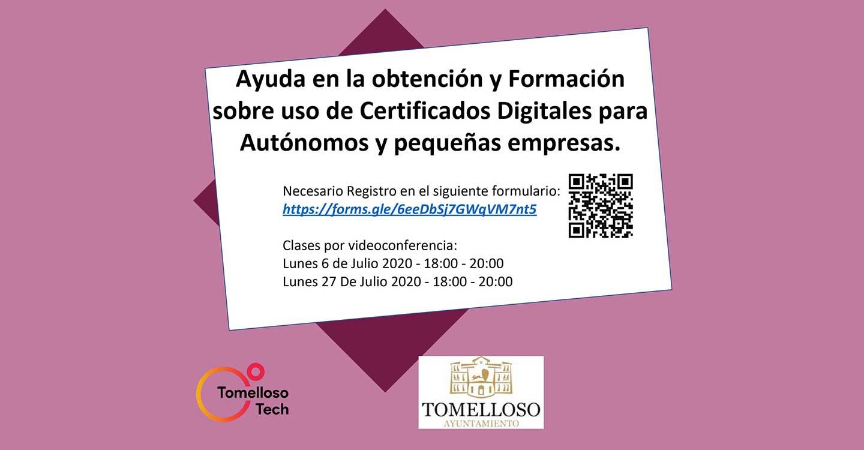 El Ayuntamiento de Tomelloso ayuda a autónomos y pequeñas empresas en la obtención de certificados digitales
