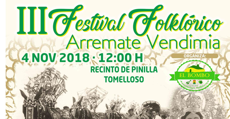 """La Asociación Folklórica """"El Bombo"""" celebra este domingo el III Festival """"A remate vendimia"""""""