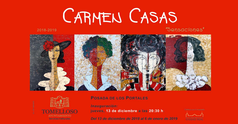 """Las """"Sensaciones"""" de Carmen Casas, en la Posada de los Portales del 13 de diciembre al 6 de enero"""