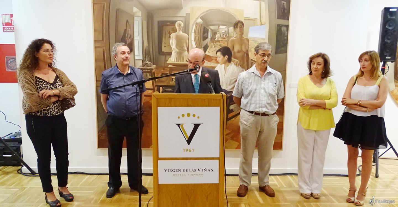 Inaugurada la exposición de pintura de Juan Moreno en el Museo de Arte Contemporáneo Infanta Elena