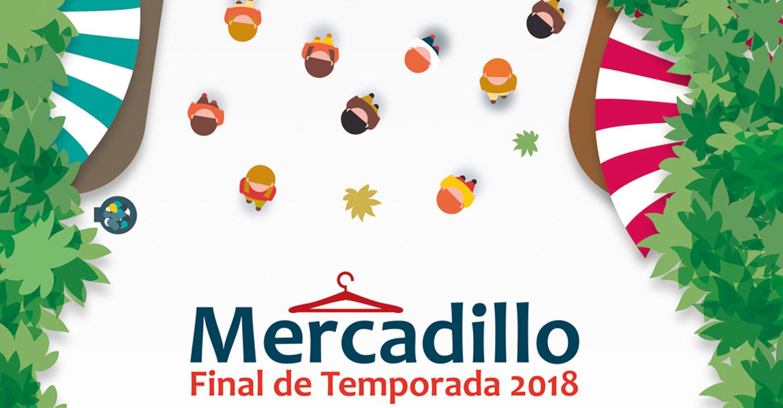 El Mercadillo Final de Temporada se traslada al Pabellón de la Ciudad Deportiva, ante la previsión de lluvias y se amplía su apertura también al domingo