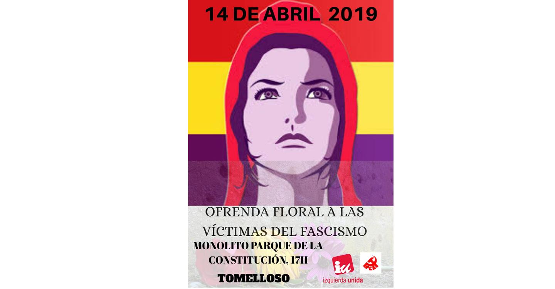 Izquierda Unida homenajea a la República en Tomelloso.
