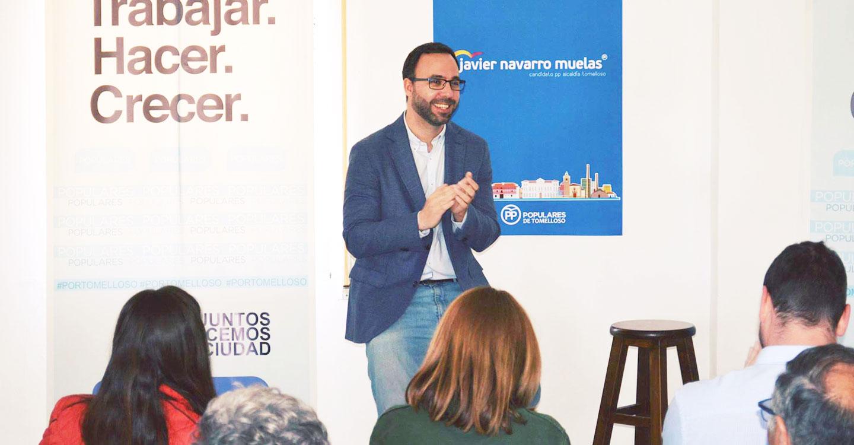 """Javier Navarro:  """"El PP de Tomelloso es la única alternativa de gobierno ante el PSOE de la improvisación y el despilfarro"""""""
