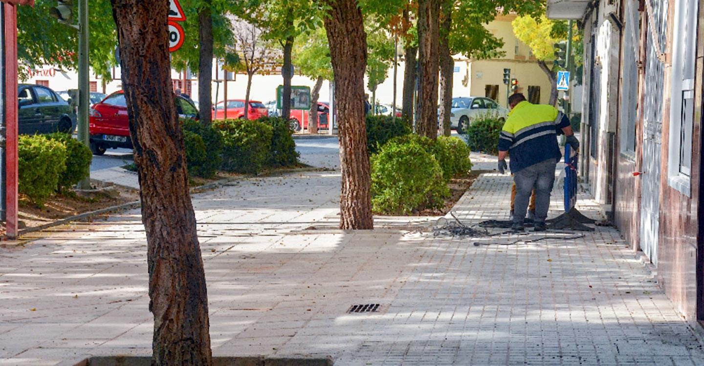 Finaliza la reparación de un tramo de acerado en la avenida Don Antonio Huertas