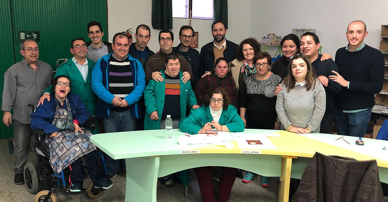 """El Partido Popular de Tomelloso visita el Taller de """"AFAS"""" dedicado a los cuentos del """"Picogordo"""""""