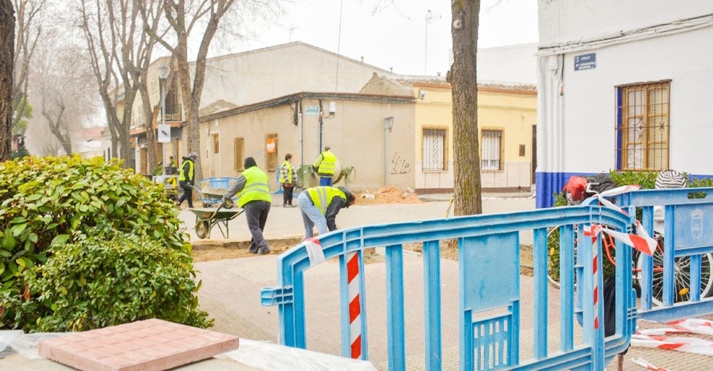 El Ayuntamiento de Tomelloso trabaja en la eliminación de barreras arquitectónicas en la calle Doña Crisanta