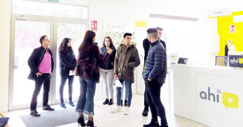 Alumnos de ciclos formativos del IES 'Francisco García Pavón' visitan Ahí+CLM y Comunitelia para tomar contacto con empresas innovadoras del entorno