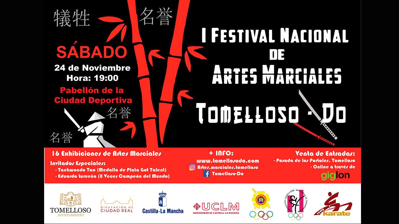 """A la venta las entradas para el I Festival Nacional de Artes Marciales """"Tomelloso-Do"""""""