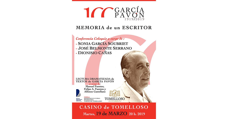 Conferencia-coloquio dentro de las actividades del Centenario del nacimiento de Francisco García Pavón