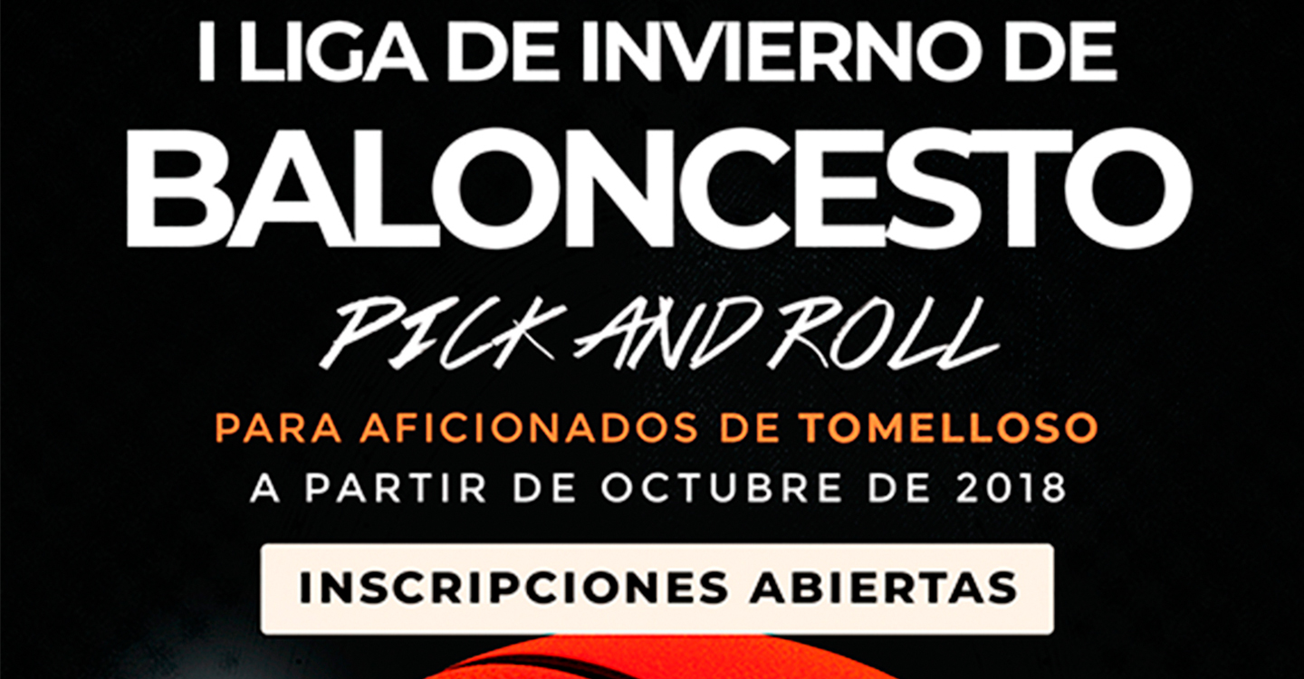 I Liga de invierno de baloncesto Pick and Roll en Tomelloso