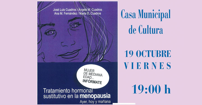 José Luis Cuadros presenta este viernes un libro en la Casa de Cultura sobre tratamiento hormonal dirigido a mujeres