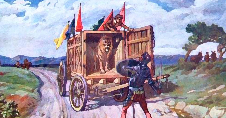 Resultado de imagen de capitulo de los leones quijote