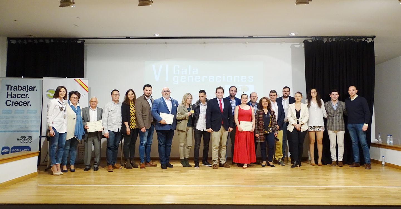 Nuevas Generaciones del PP en Tomelloso entregan sus premios y carnets de oro