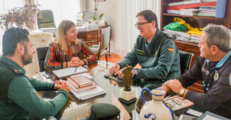La alcaldesa se reúne con el nuevo Capitán Jefe de la Guardia Civil