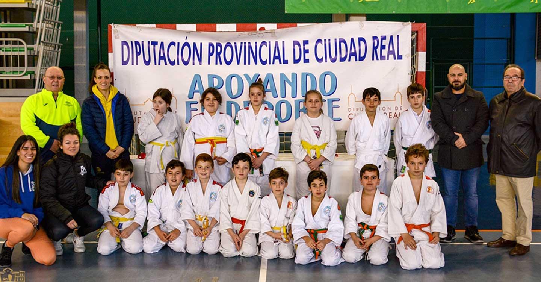 185 niños se dan cita en el Campeonato de Judo de C-LM en edad escolar celebrado en Tomelloso