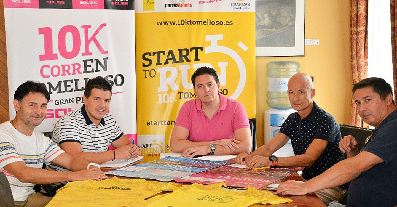 Iván Rodrigo se reúne con el club Manchathon para seguir perfilando la 10K CorrEnTomelloso