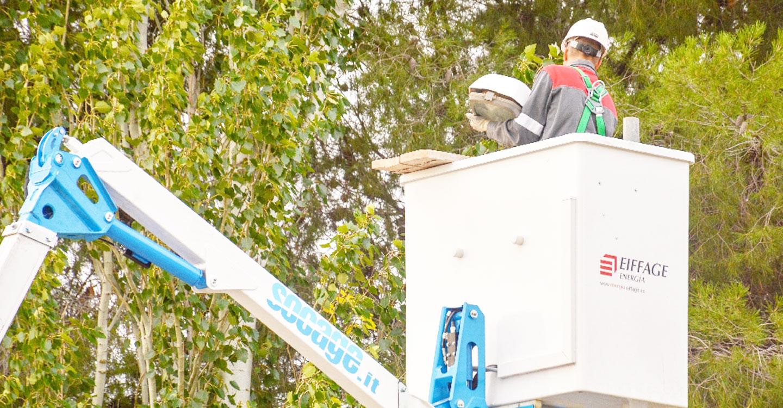 Las mejoras de alumbrado led avanzan hacia las calles Santa Quiteria y La Paz