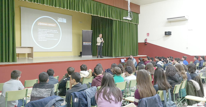 WADO, Asociación LGTBI+ de Castilla-La Mancha, celebró una sesión/taller en el IES Eladio Cabañero