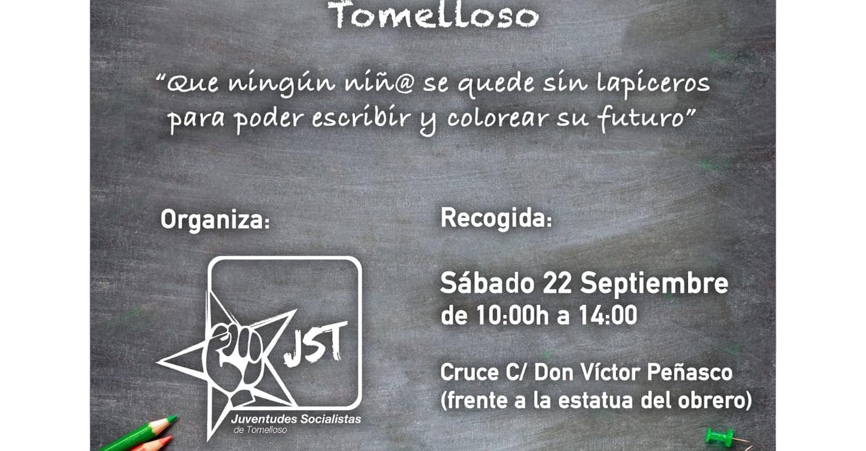 JJSS de Tomelloso llevará a cabo una recogida de material escolar mañana Sábado