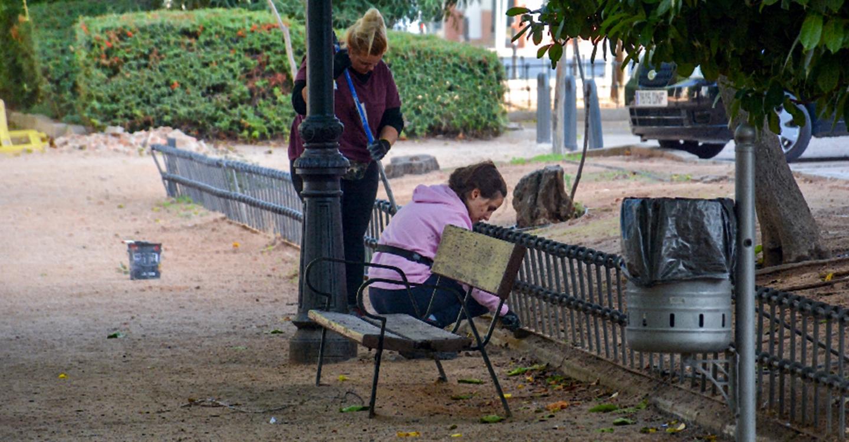Redes de riego nuevas y otras mejoras en el parque Urbano Martínez