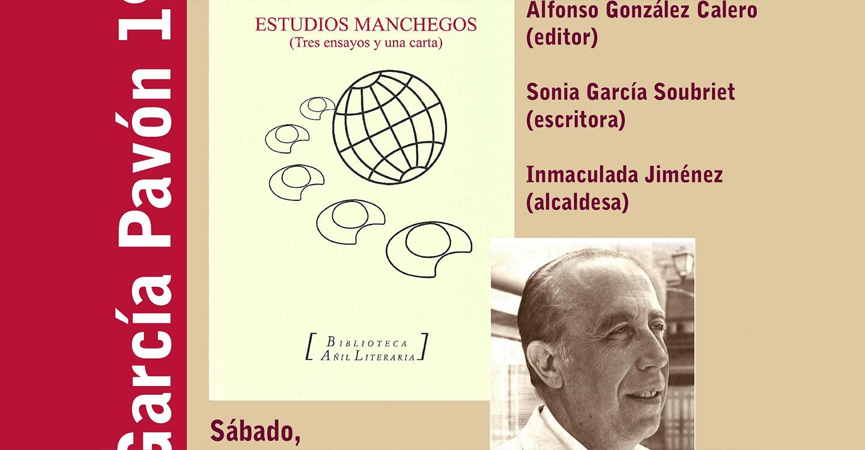 El sábado se celebra en Tomelloso la primera actividad en torno al centenario de García Pavón