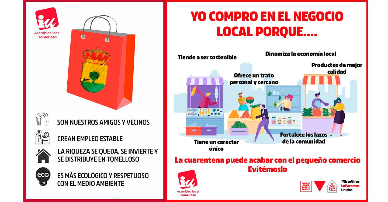 La asamblea local de izquierda unida, va a lanzar una campaña enfocada a fomentar el consumo en los negocios locales de Tomelloso.