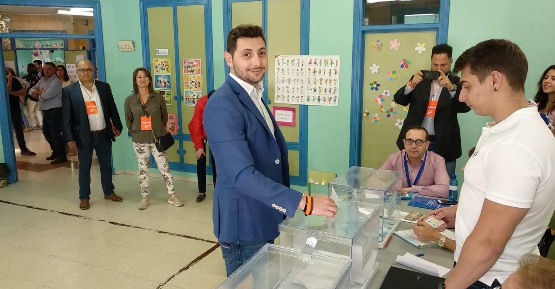 José Andújar de Ciudadanos, demuestra su ilusión por estas votaciones