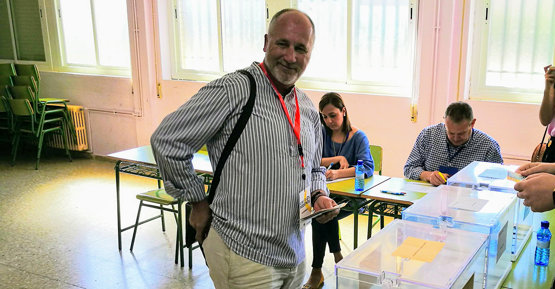 Rafael Quesada, de Unidas-Podemos ha querido agradecer a todos los ciudadanos y personas encargadas del proceso electoral por, los esfuerzos realizados