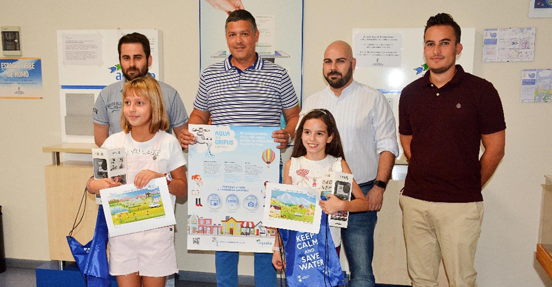 Dos alumnas de Tomelloso, finalistas en el concurso de dibujo infantil de Aqualia