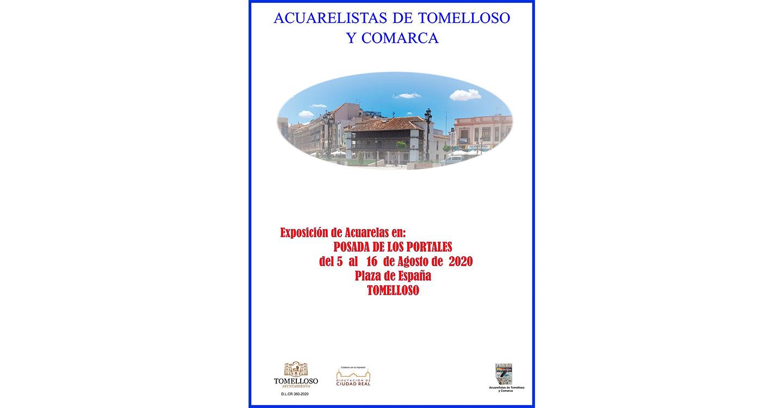 """La Asociación de Acuarelistas de Tomelloso y Comarca expondrá sus últimos trabajos en las dos salas del centro cultural """"Posada de los Portales"""""""