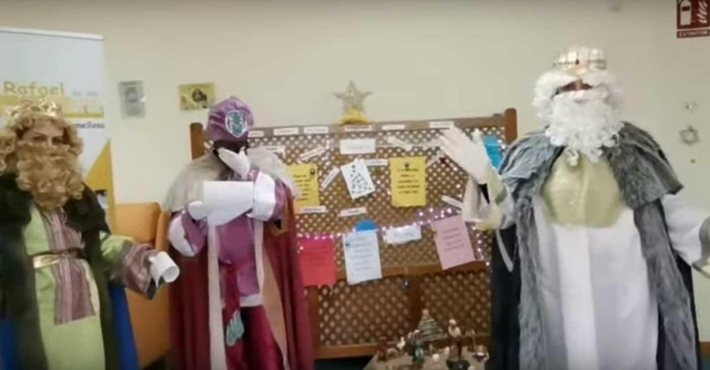 SSMM Los Reyes Magos de Oriente han visitado el Centro San Rafael de Tomelloso