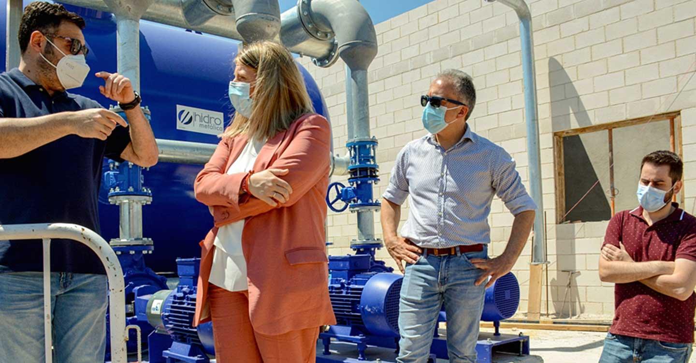 La Alcaldesa de Tomelloso y el concejal de Obras visitan las obras de la nueva Estación de Tratamiento de Agua Potable que estará en funcionamiento a finales de año