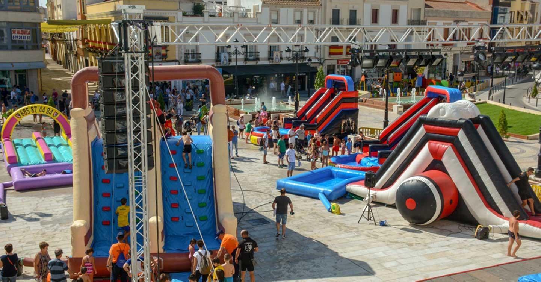 Aplazados los hinchables previstos este fin de semana en la plaza de España