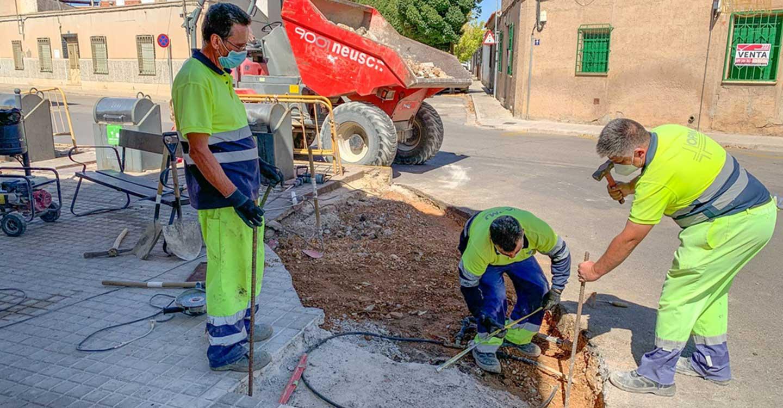 El Ayuntamiento de Tomelloso continúa trabajando en mejorar la seguridad de los peatones con varias actuaciones urbanísticas