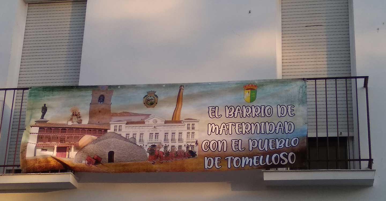 El Barrio de Maternidad con el pueblo de Tomelloso