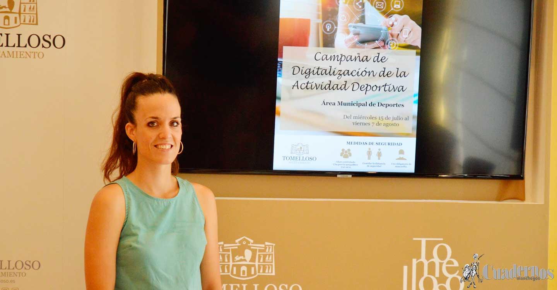 La Campaña de Digitalización Deportiva en Tomelloso ha sido presentada por Laura Gallego esta misma mañana